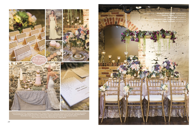 Blush Weddings palette for wedding inspiration decor